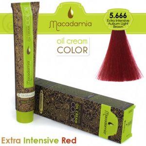 Macadamia Oil Cream Color Extra Intensive Red - 5.666 Castano Chiaro Ramato Extra Intenso 100ml