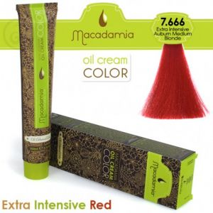 Macadamia Oil Cream Color Extra Intensive Red - 7.666 Biondo Medio Ramato Extra Intenso 100ml