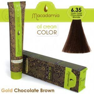Macadamia Oil Cream Color Gold Chocolate Brown - 6.35 Biondo Scuro Cioccolato Dorato 100ml