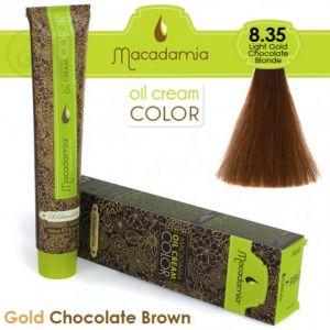 Macadamia Oil Cream Color Gold Chocolate Brown - 8.35 Biondo Cioccolato Dorato Leggero 100ml