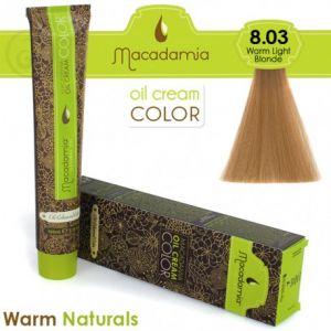 Macadamia Oil Cream Color Warm Naturals - 8.03 Biondo Chiaro Caldo 100ml