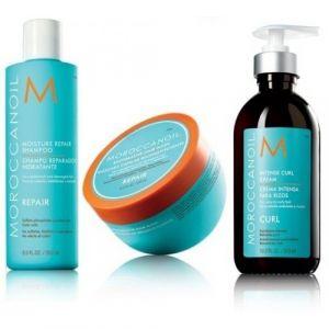 Moroccanoil Kit Moisture Repair Shampoo 250ml Restorative Hair Mask 250ml Intense Curl Cream 300ml